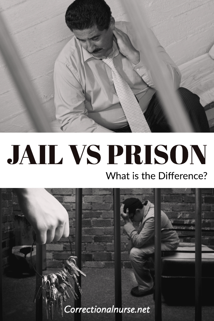 If you don't work in corrections you might not know that there is a big difference between a jail and a prison. Here are some explanation #CorrectionalNurse #CorrectionalHealth