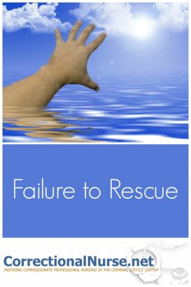 Failure to Rescue is an intriguing concept currently gaining traction in healthcare.  The term is defined as the inability to initiate action in a life-threatening situation.