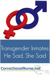 Transgender inmates are over-represented in the correctional settings. If you work in corrections, you are likely to come face-to-face with them.