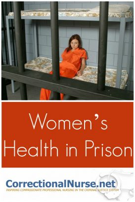 Women's health in Prison needs attention because the rate of growth of female prisoners is nearly double that of males in the US.