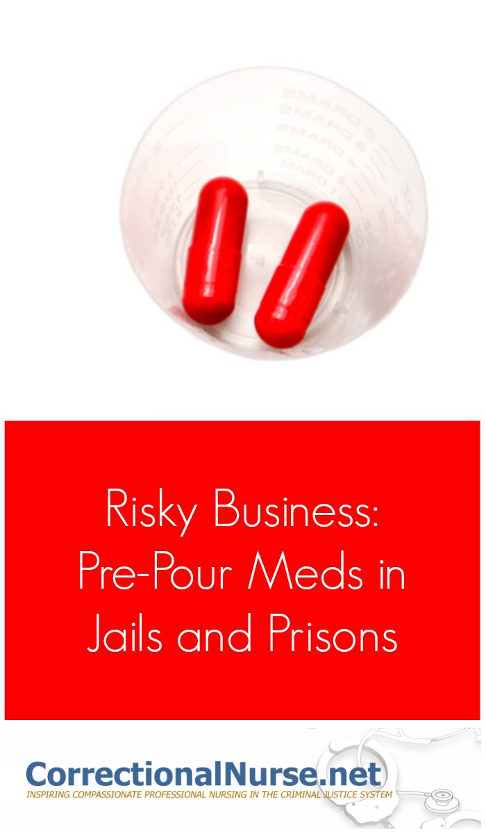 The three main ways medications are administered in correctional settings are: Med Line (Watch Take), Keep on Person (KOP), and Pre-Pour meds.