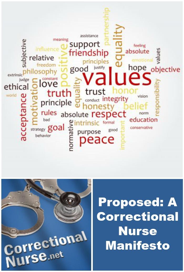 Proposed A Correctional Nurse Manifesto