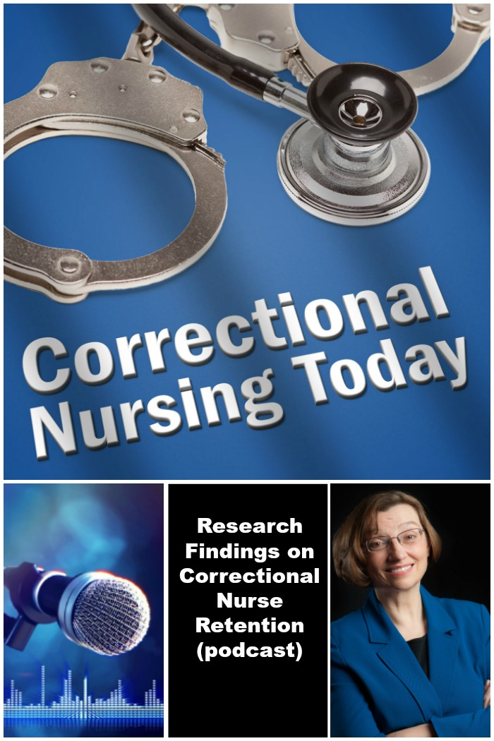 Research Findings on Correctional Nurse Retention (podcast)