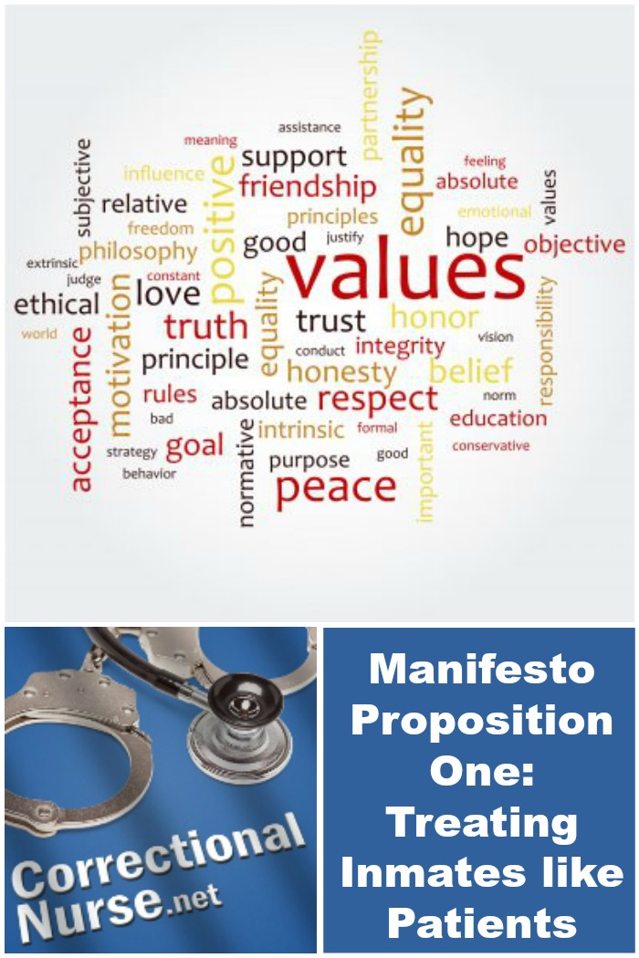 Manifesto Proposition One: Treating Inmates like Patients