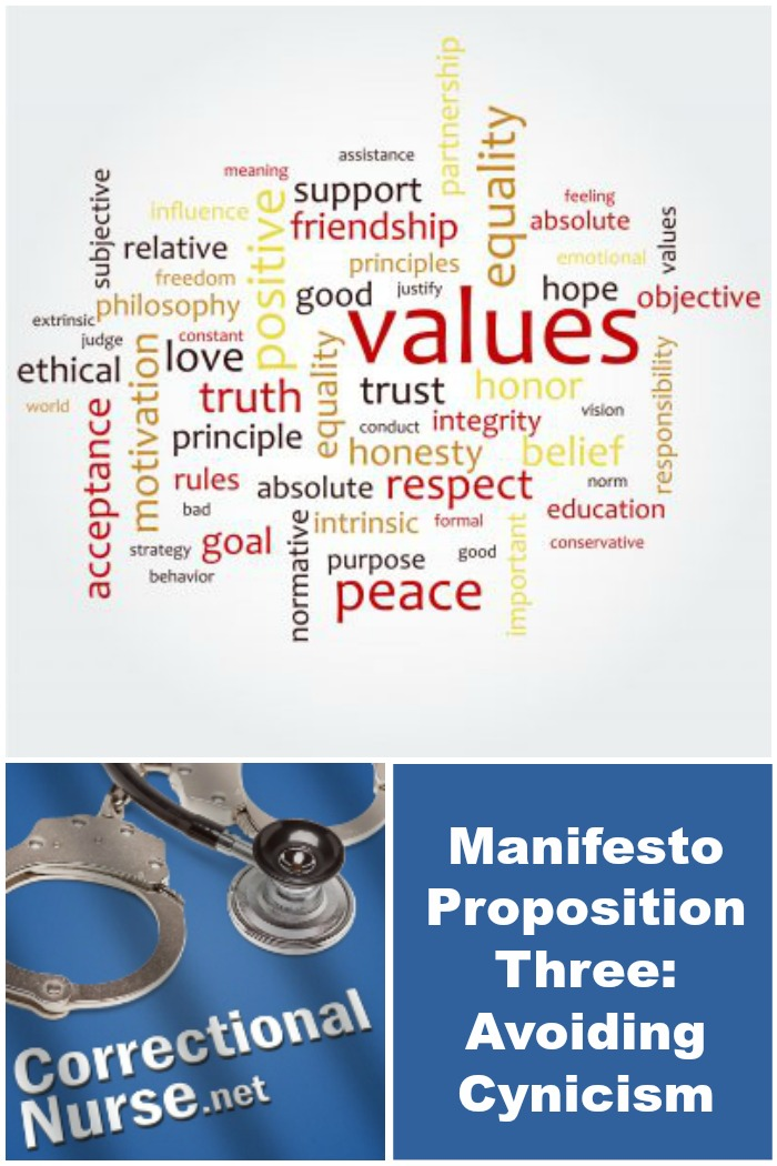 Manifesto Proposition Three: Avoiding Cynicism