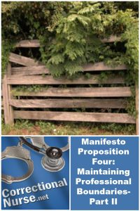 Manifesto Proposition Four: Maintaining Professional Boundaries-Part II