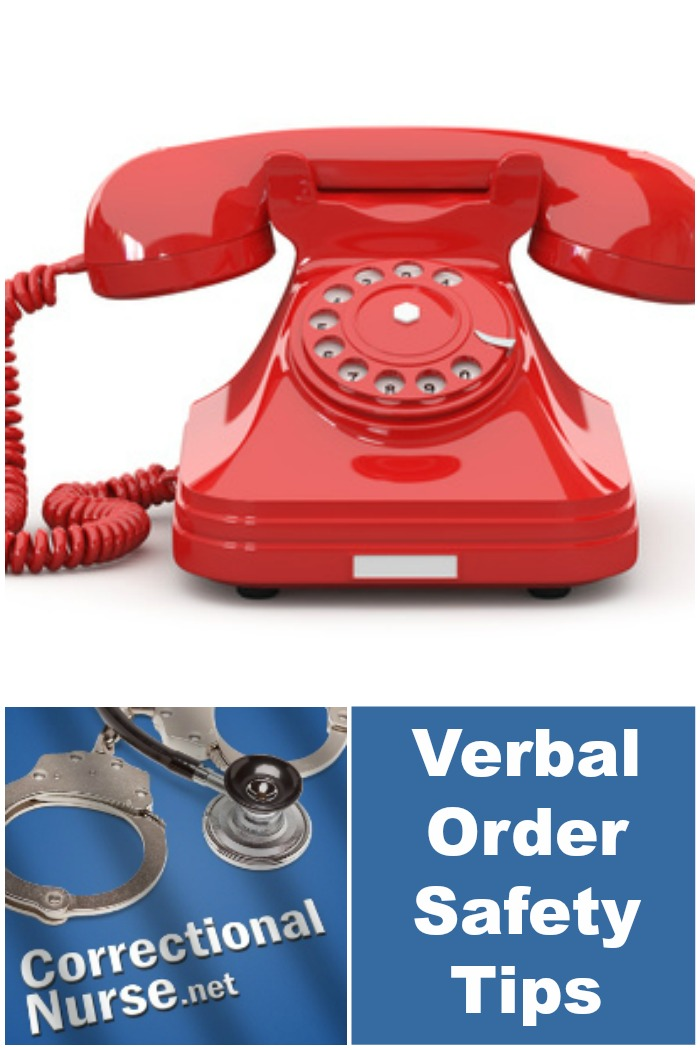 Verbal Order Safety Tips