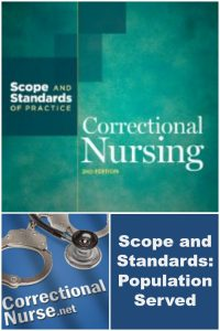 An ongoing series discussing key components of the Correctional Nursing Scope and Standard of Practice: Population Served
