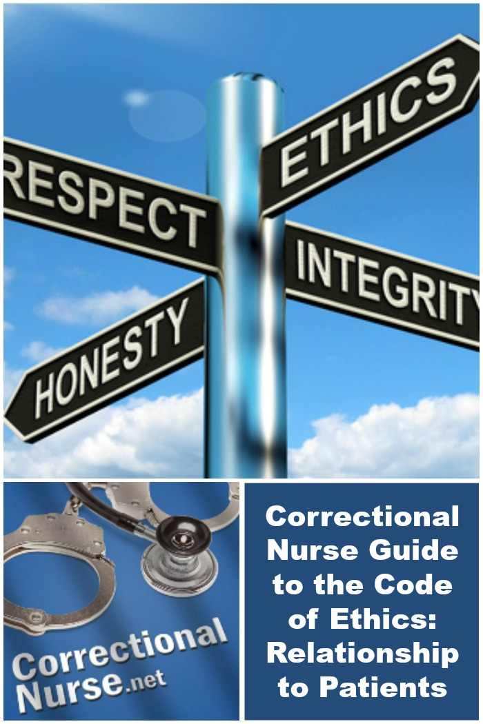 Correctional Nurse Guide to the Code of Ethics: Relationship to Patients