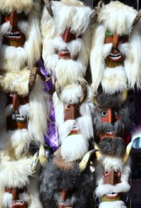 mummers  masks of  market in Romania 2013.