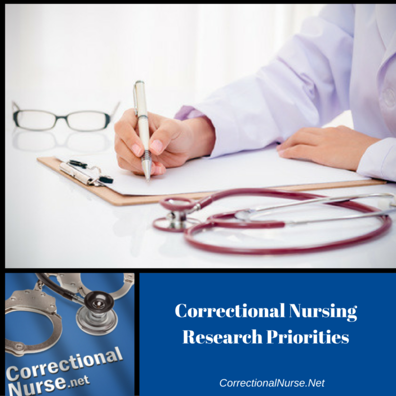 Correctional Nursing Research Priorities
