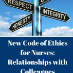 New Code of Ethics for Nurses: Relationships with Colleagues and Others