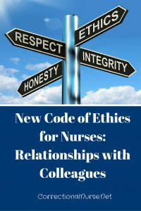 New Code Of Ethics for Nurses: Relationships with Colleagues