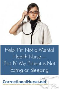 There are medical conditions that can lead to lack of appetite and insomnia that need ruled out. In addition, this patient might have a mood disorder.
