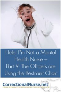 The criminal justice system uses physical restraints to manage unruly inmates. A restraint chair is to keep both the inmate and staff safe for a short time.
