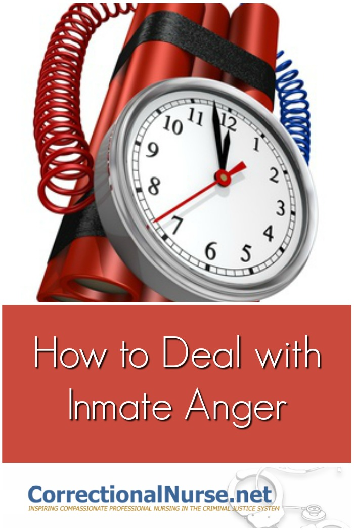 Correctional nurses need skills in deflating potentially violent situations in their clinical practice. They will need to deal with inmate anger.