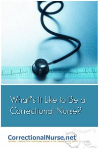 Gina over at the CodeBlog interviewed me about correctional nurse life. She asked some interesting questions about What's It Like to Be a Correctional Nurse