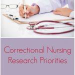 Correctional Nursing Research Priorities