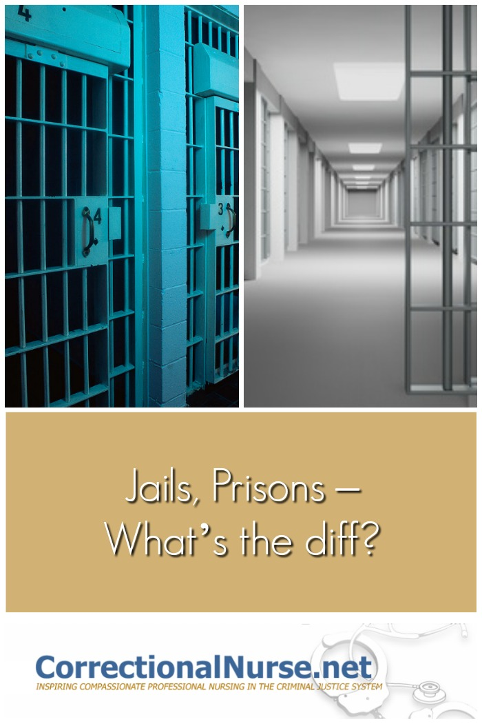 If you don't work in corrections you might not know that there is a big difference between a jail and a prison. Here are some explanation