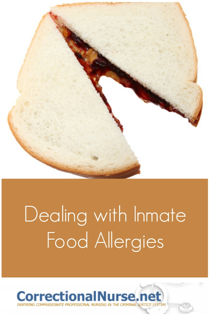 Food allergies can be a real challenge for correctional nurses. It is important to document these allergies during intake screenings and put safeguards in place to avoid allergic reactions behind bar