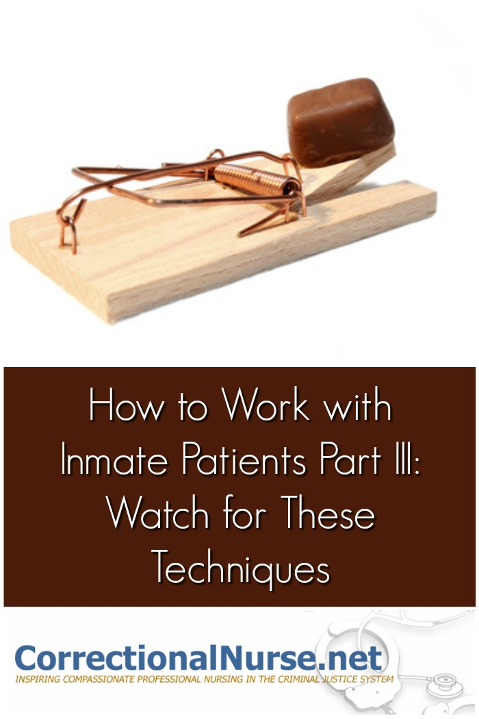 How to work with inmate patients