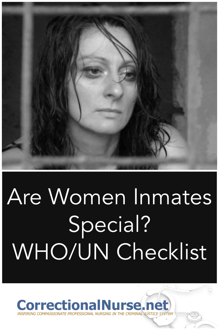 You've just been told that your all-male prison will be converted to a women's prison next month. Will that make a difference? Are Women Inmates Special?