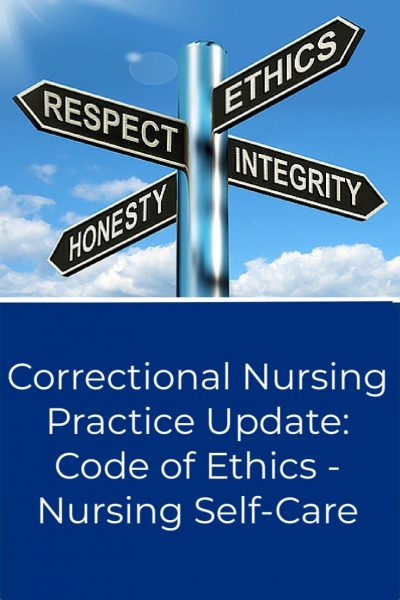 Correctional Nursing Self Care